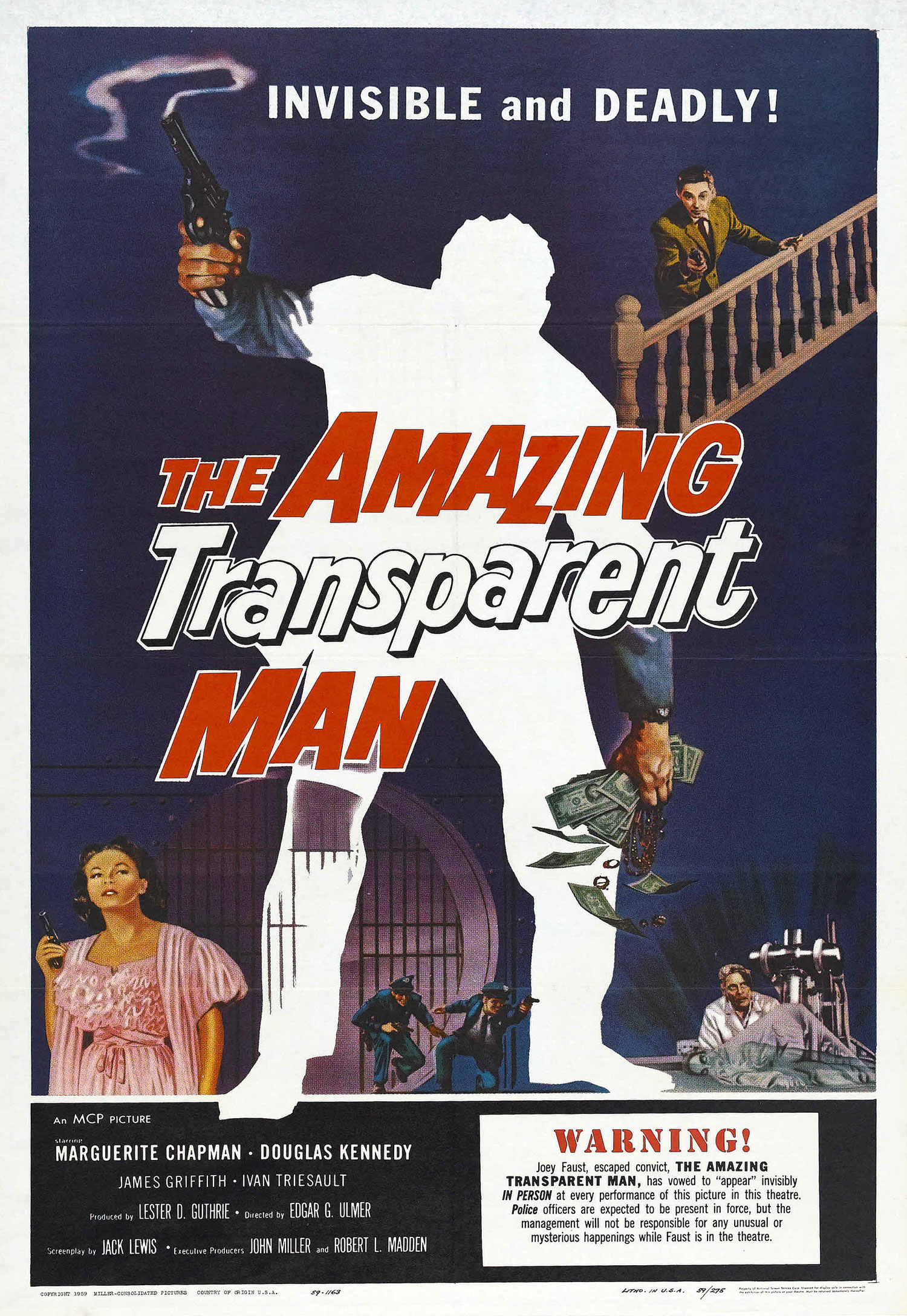 The Amazing Transparent Man movie poster