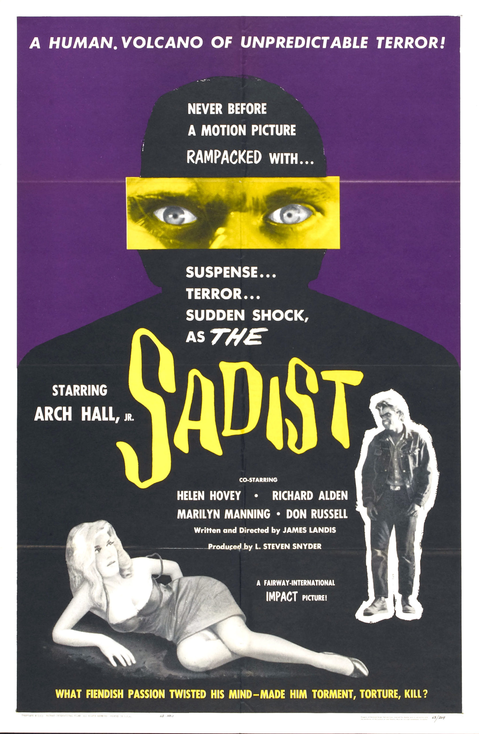 The Sadist movie poster