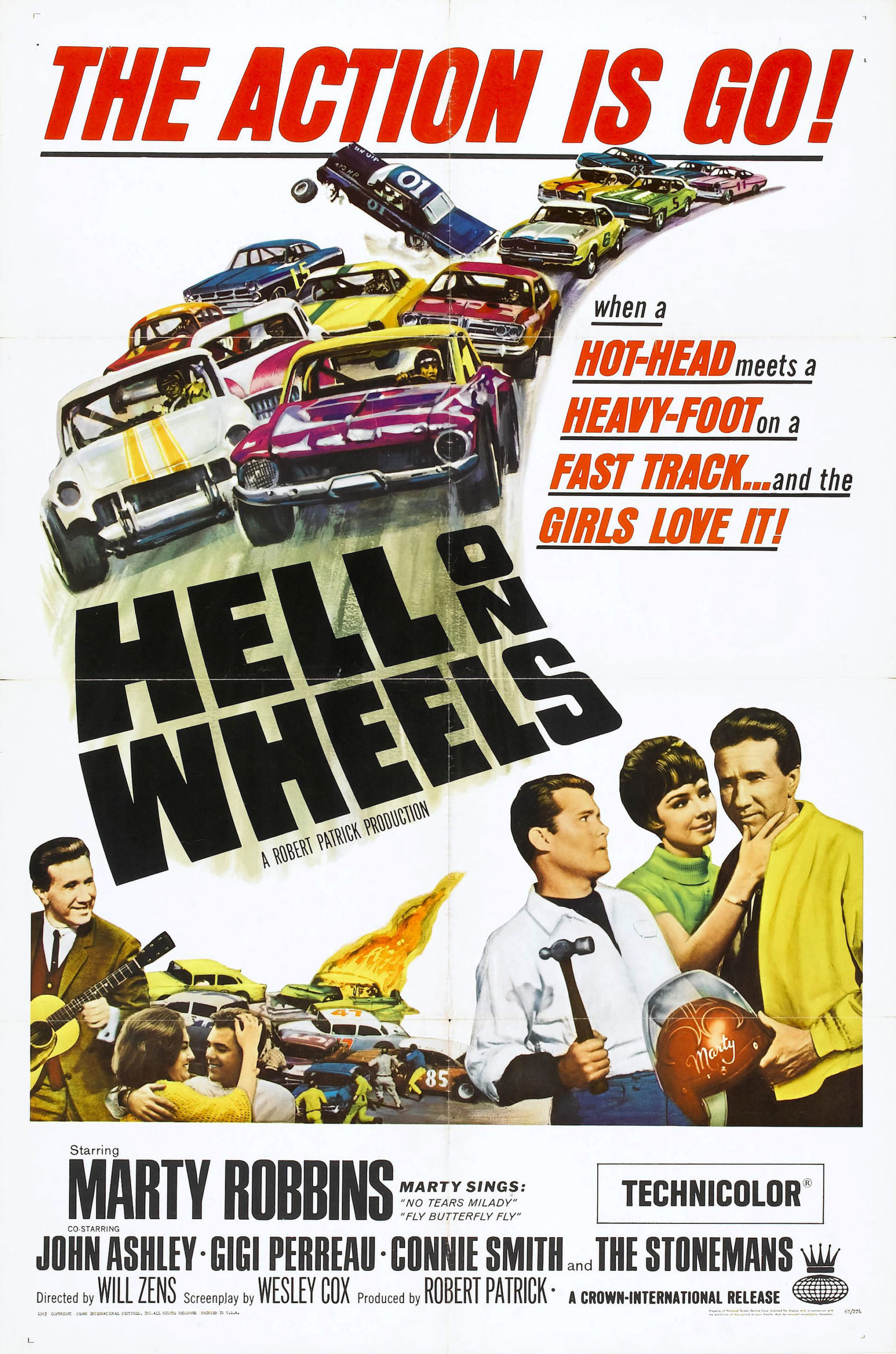 Hell on Wheels 1967 movie poster