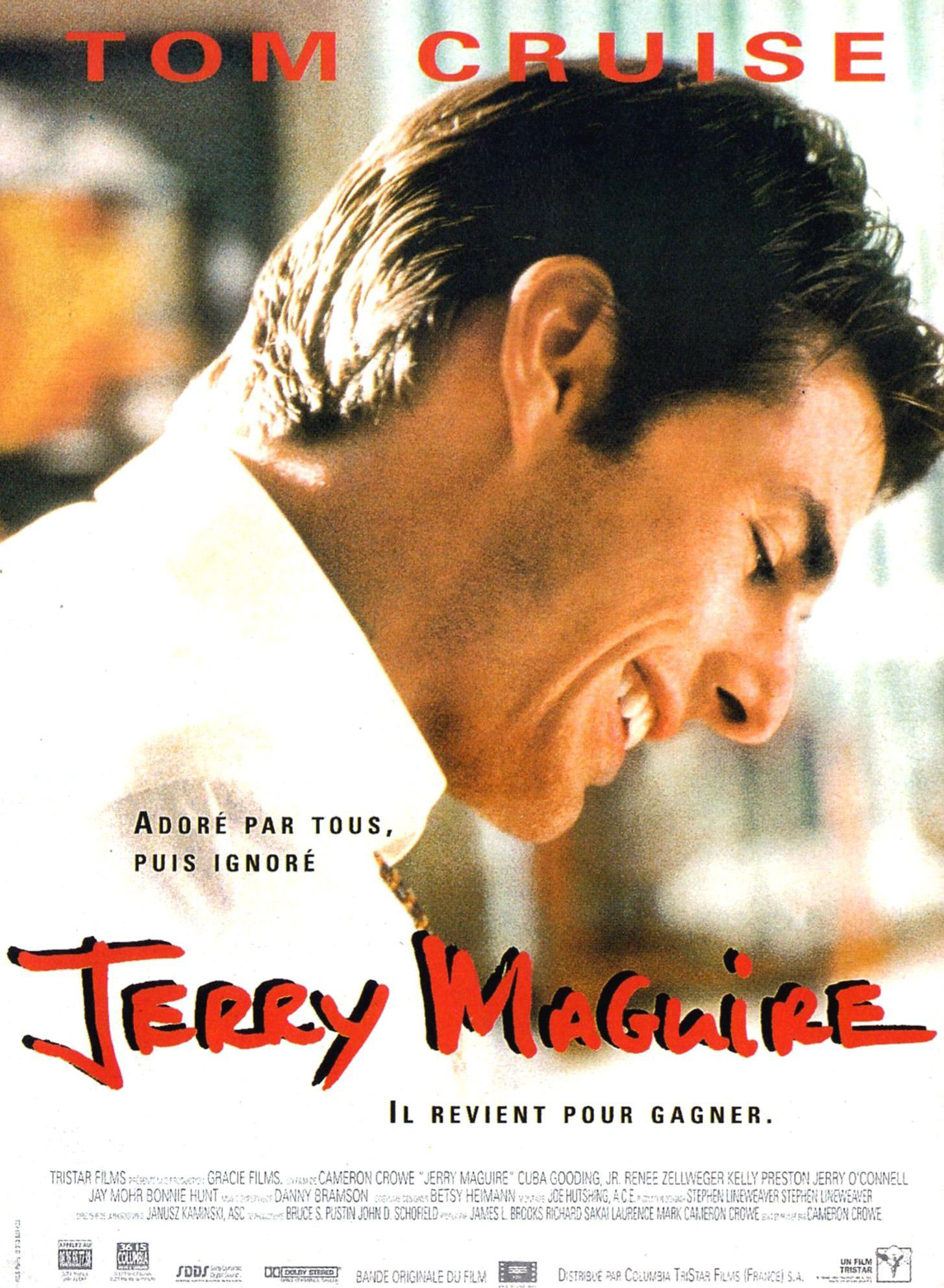 Jerry Maguire movie poster, in French!