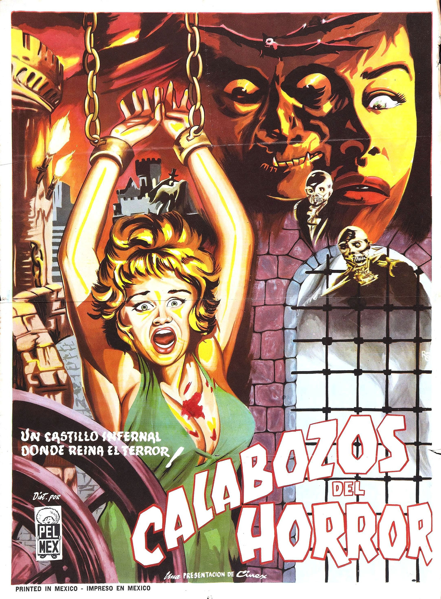 The Dungeon of Harrow movie poster from Mexico