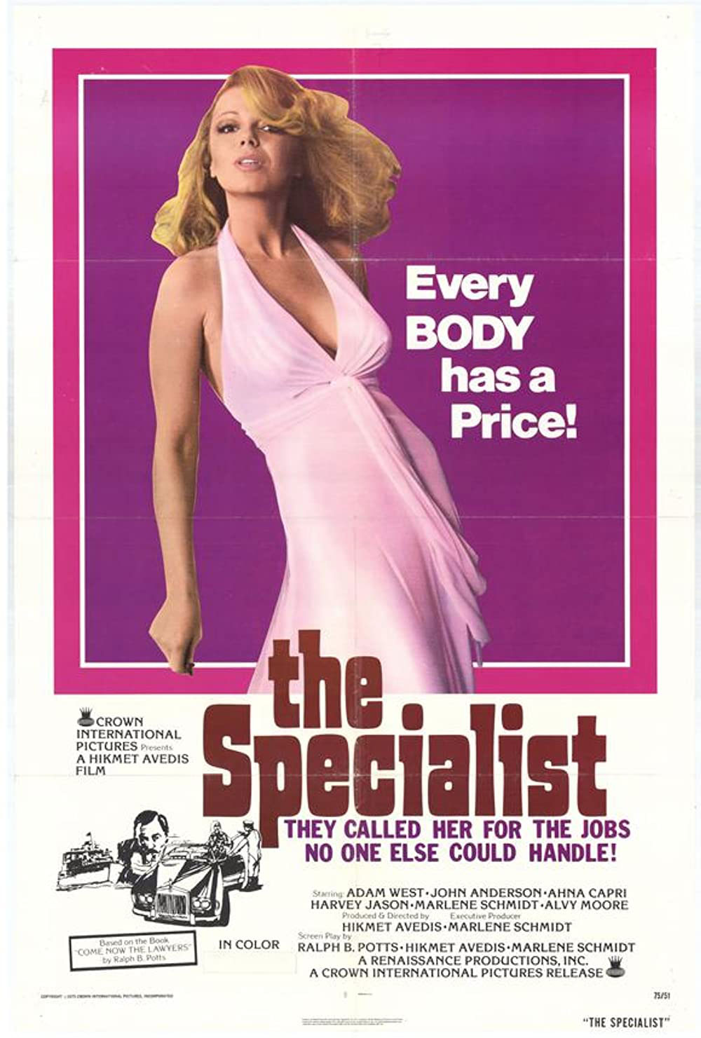 The Specialist, 1975 movie poster