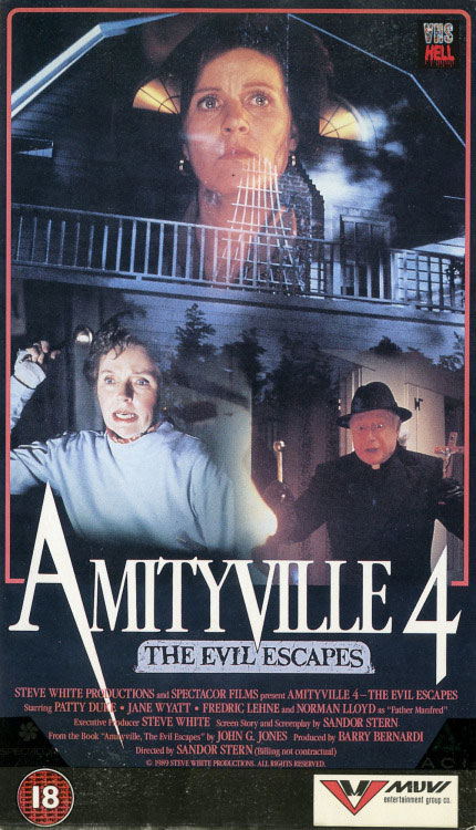 Amityville 4: The Evil Escapes VHS box