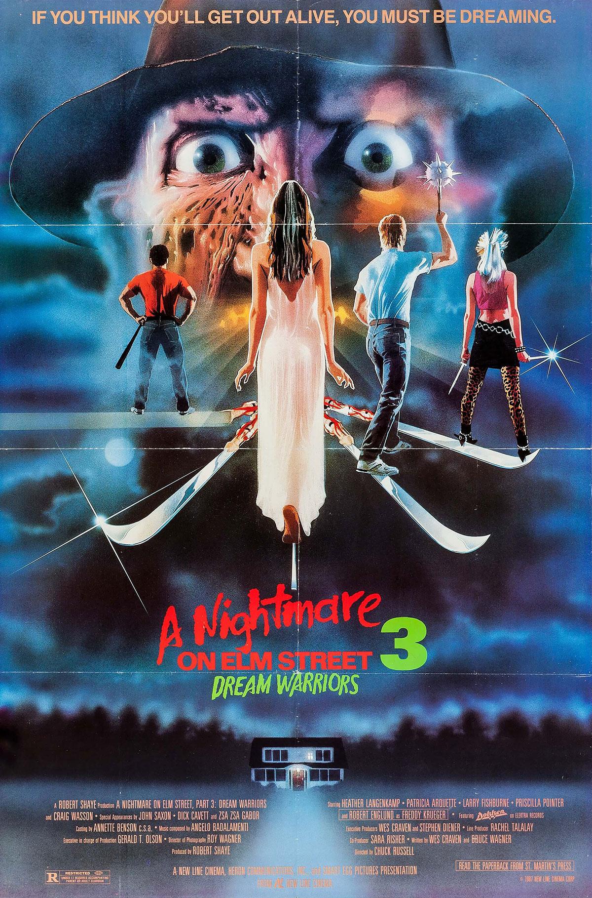 A Nightmare on Elm Street 3: Dream Warriors movie poster