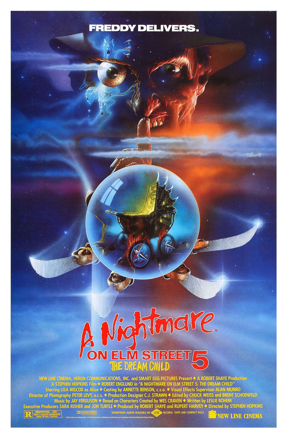 A Nightmare on Elm Street 5: The Dream Child movie poster