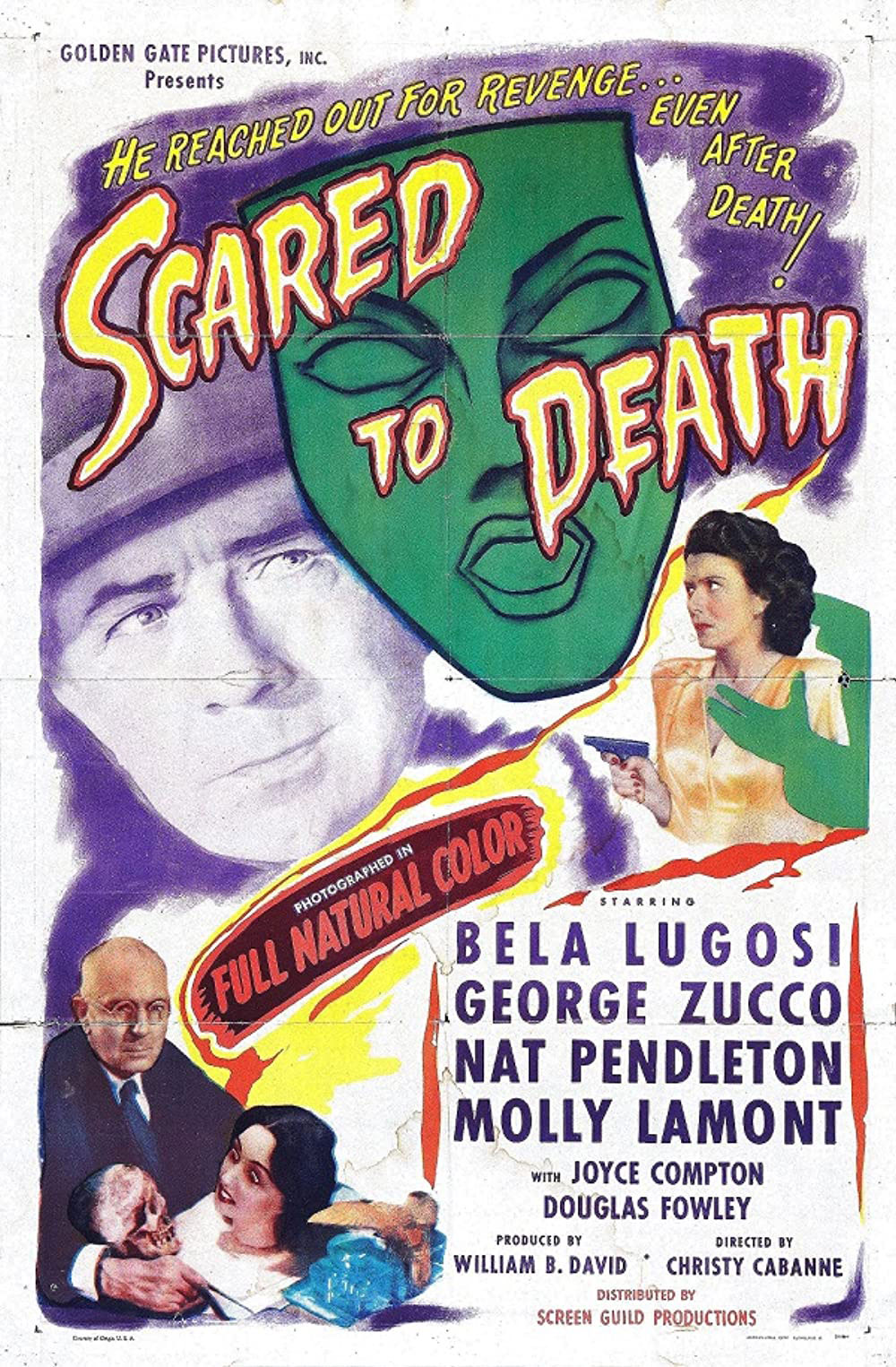 Scared to Death 1947 movie poster